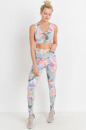 Highwaist Floral Lei Print Leggings