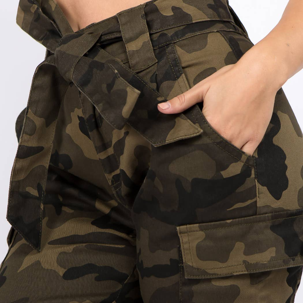 Camo Jogger Ankle Tie at {price}