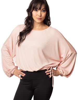 Cassidy Ribbed Knit Top - Blush