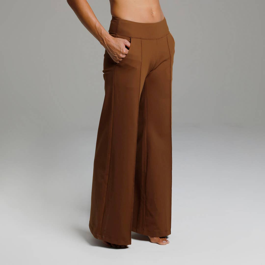 Perfect High Waist Wide Leg Pant (Bronze)