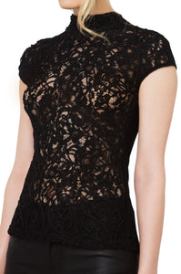 Gracia - High Neck Lace Top