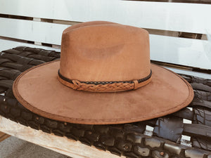 Andes Faux Suede Fedora Crown Hat