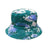 Tie Dye Bucket Hat - Green/Blue - 100% Cotton