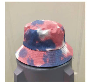 Tie Dye Bucket Hat - Purple/Pink - 100% Cotton