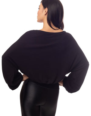 Cassidy Ribbed Knit Top - Black