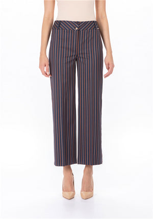 Striped Trouser - Crop Length at {price}
