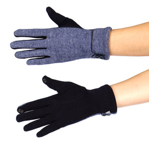 Double Button Touch Gloves at {price}