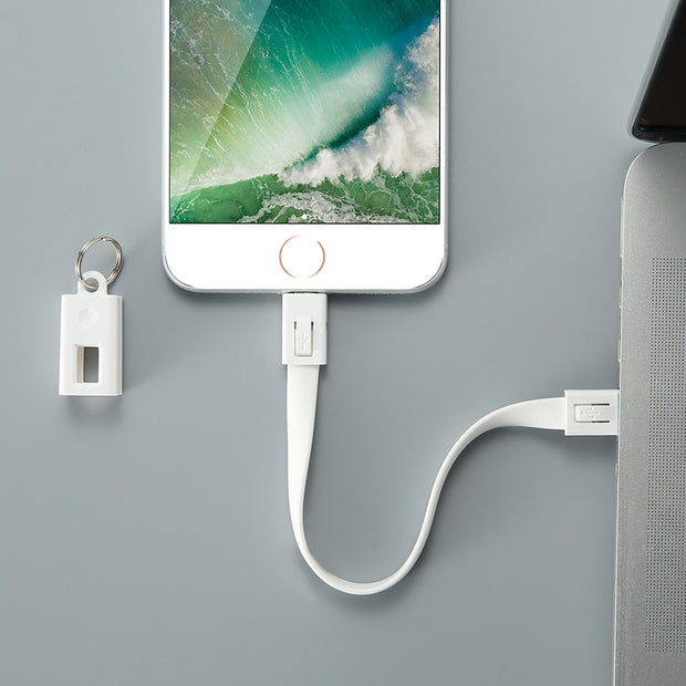 Solid Charging Cable Keychain
