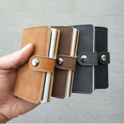 LEATHER RFID PROTECTED SMART WALLET