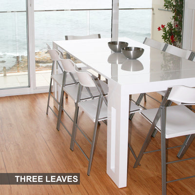 Amico Extendable Table - With 3 Leaves - Space Saving Furniture Australia