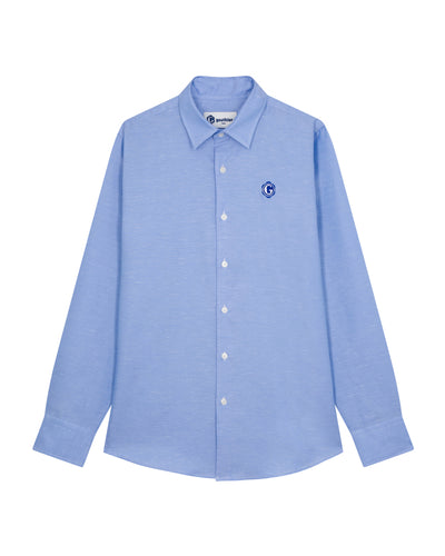 Blue shirt in cotton & linen