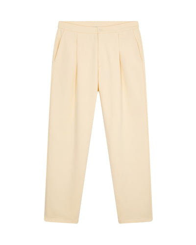 Pleated sweatpants in soft cotton