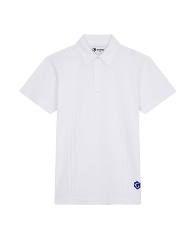 Ribbed polo shirt in piqué cotton
