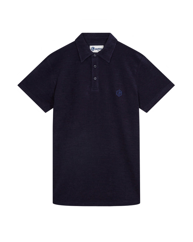 Sponge polo shirt in soft cotton