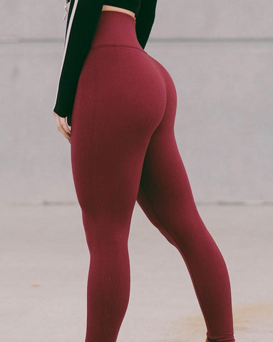 Power Leggings (Burgundy)