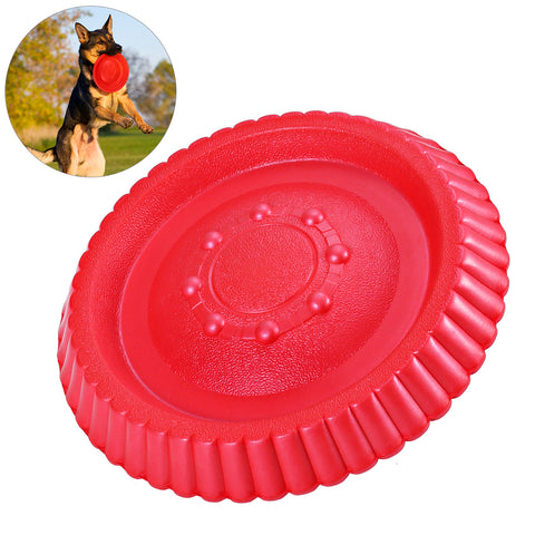 2 Pack Durable Dog Fetch Toys Set 9in Soft Interactive Dog Toys EXPAWLORER Dog Flying Discs