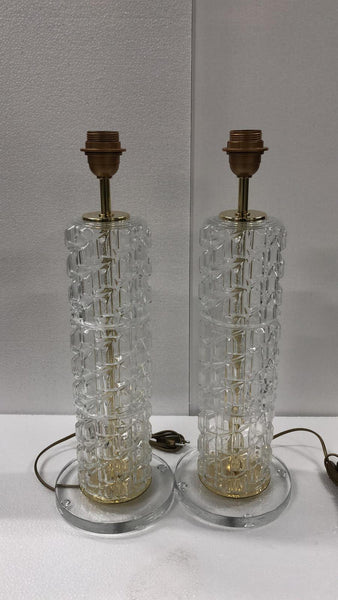 #6460-UGGG - Pair of Murano Lamps