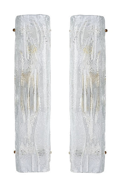 #5048-PUIG - Pair of Murano Glass Sconces (Choice of Color)