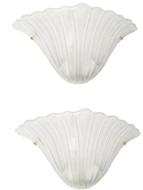 #5183-PPUG - Pair of Murano Sconces
