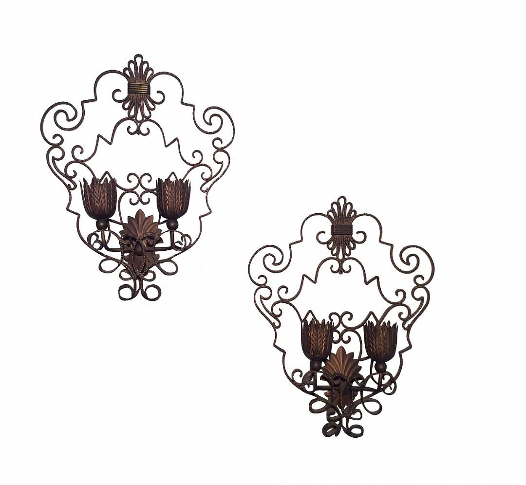 #5478-PUGG - Pair of Sconces