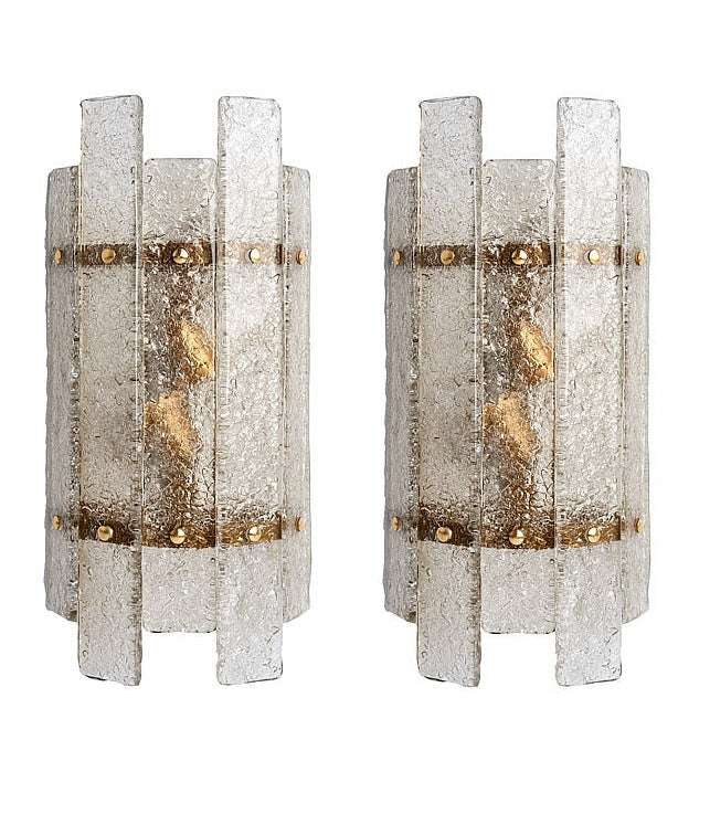 #5628-PHUG - Pair of Murano Sconces