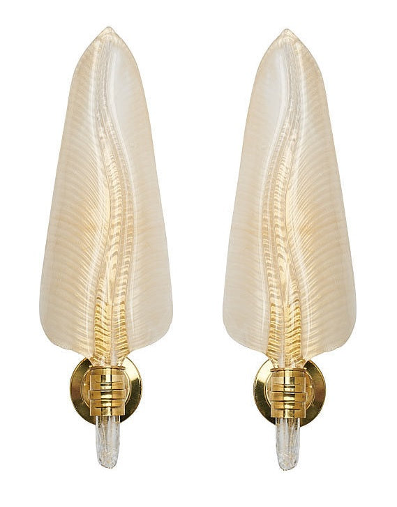 #5638-PSAG - Pair of Murano Sconces