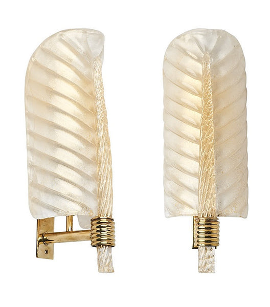 #5671-PAGG - Pair of Murano Sconces