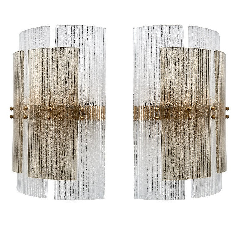 #5677-PNUG - Pair of Murano Sconces