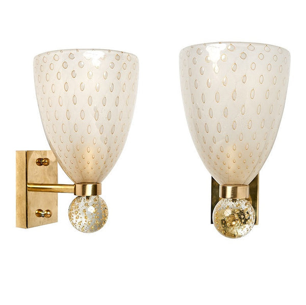 #5679-UPAG - Pair of Murano Sconces