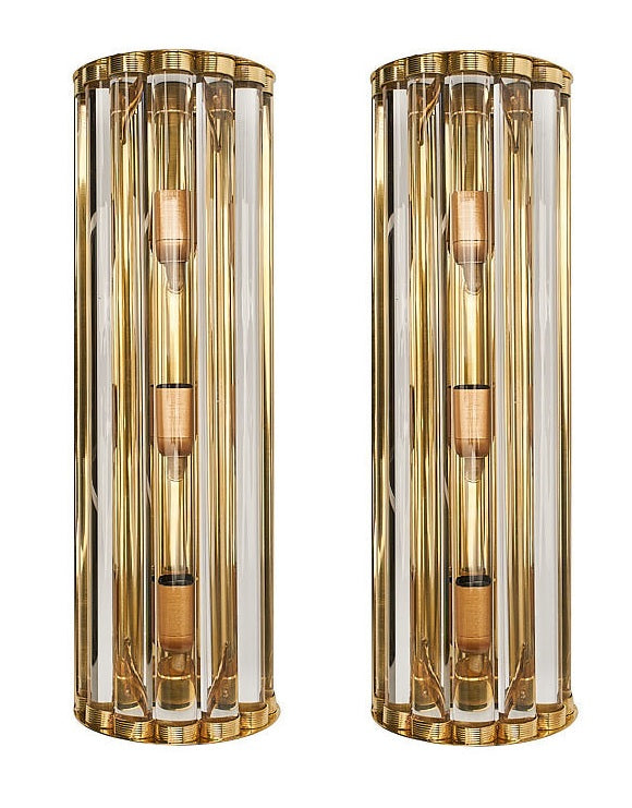 #5684-UGIG - Pair of Murano Sconces