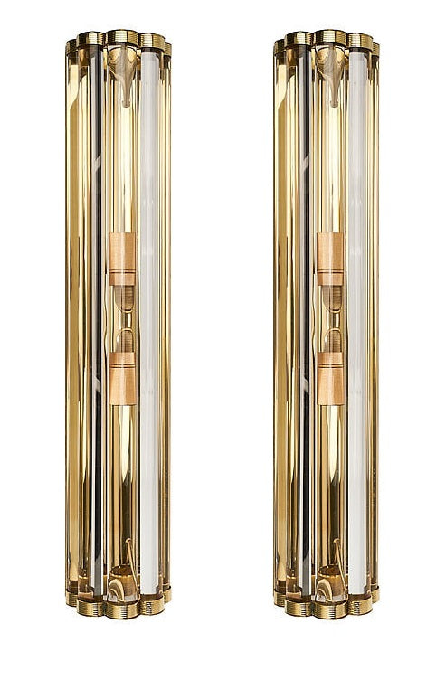 #5685 - Pair of Murano Sconces (Available in 2 Sizes)