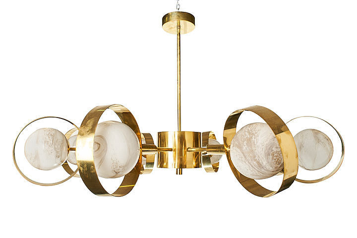 #5739-SAGG - Murano Chandelier (Choice of Color)
