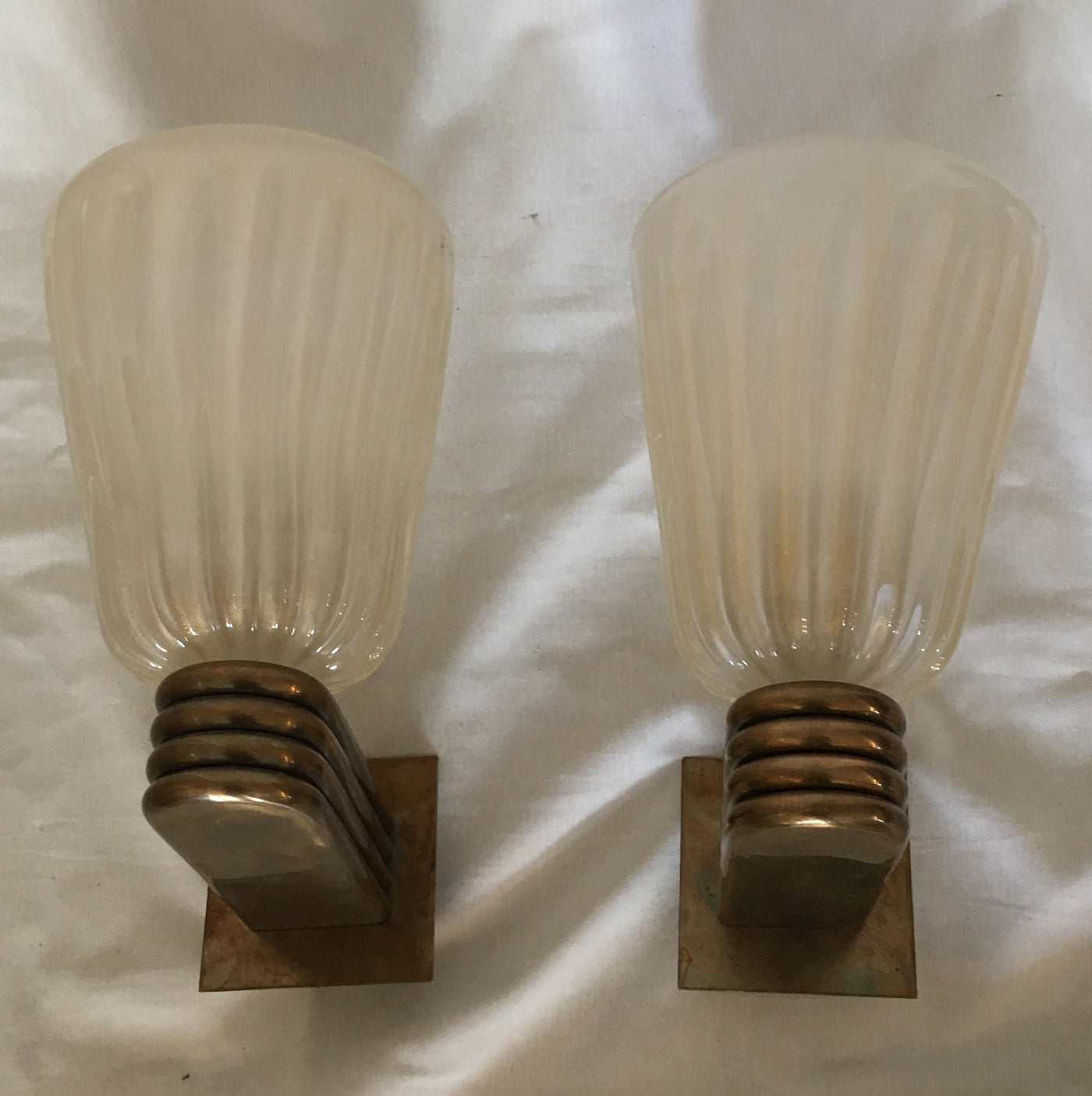 #6079-UIGG - Pair of Murano Sconces (Only 1 Pair)