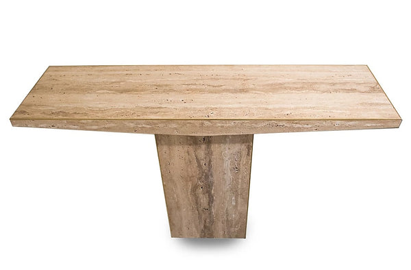 #6257 - Travertine Console Table