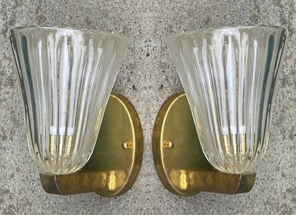 #6633-PUGG - Pair of Murano Sconces
