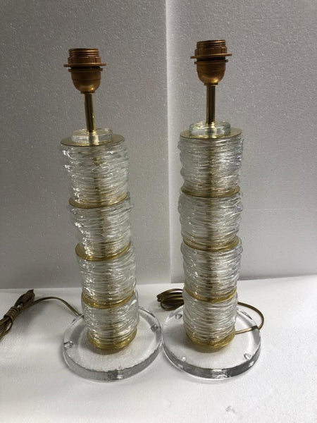 #7079-UCGG - Pair of Murano Lamps (Multiple Color Options)