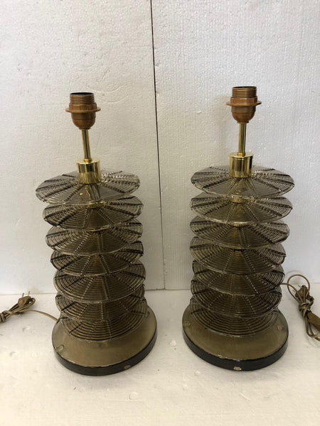 #7092-UCGG - Pair of Murano Lamps (Choice of Color)