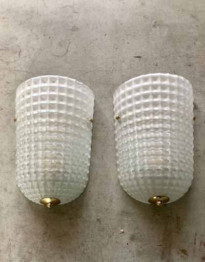 #7154-PAGG - Pair of Murano Sconces