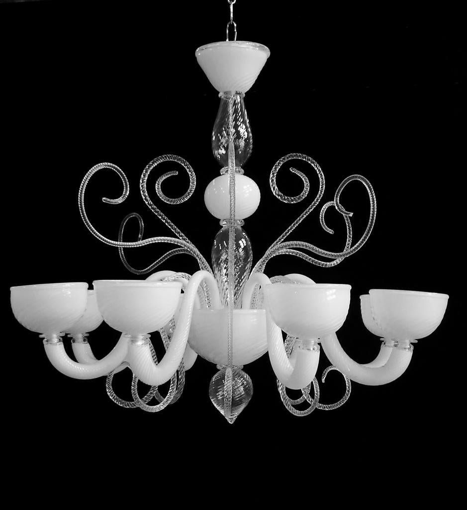 #5716 - Murano Chandelier (4 Sizes, Choice of Color)