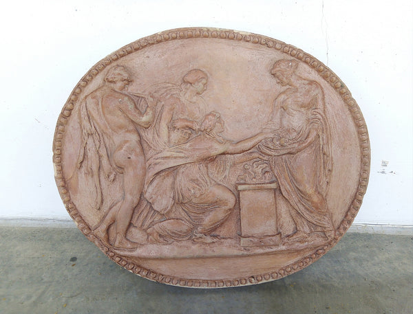 #6637-PAGG - 19th C. Terracotta Plaque