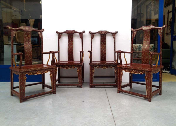 #5430-PIGG - Set of 4 Chairs C. 1920