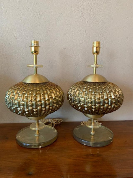 #5107-UIGG - Pair of Murano Lamps