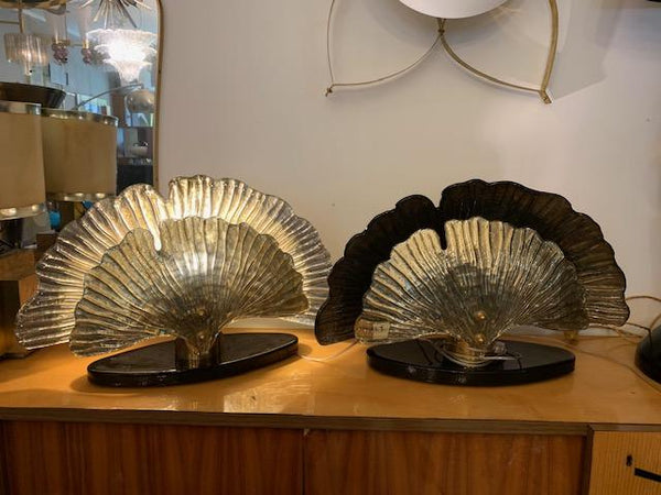 #5109-RUGG - Pair of Murano Lamps