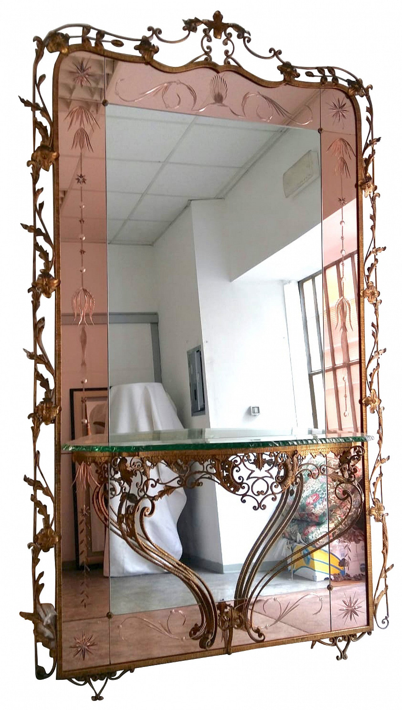 #5503-CGGG - Mirror With Console
