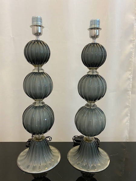 #5117-RUGG - Pair of Murano Lamps