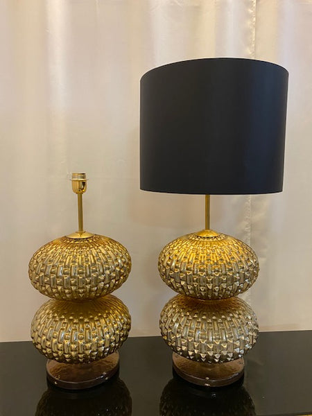 #5103-RUGG - Pair of Murano Lamps