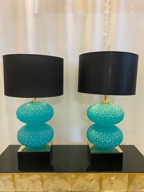 #5106-RUGG - Pair of Murano Lamps