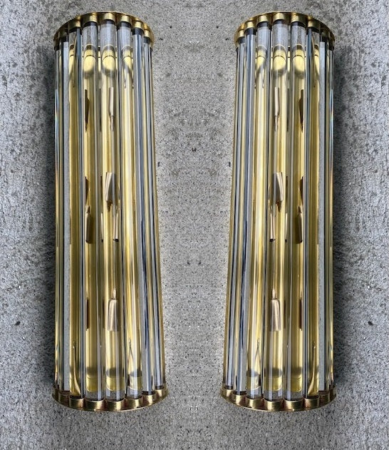 #6619-PAGG - Pair of Murano Sconces
