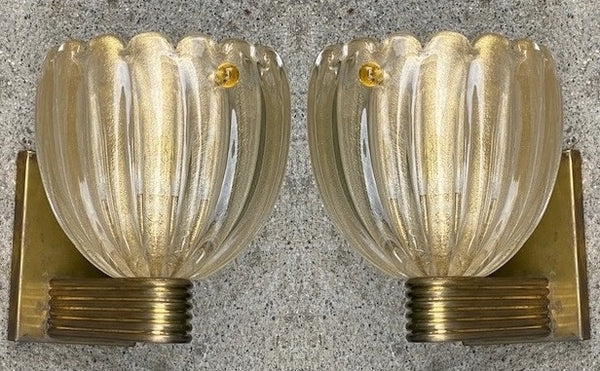 #6620-PUGG - Pair of Murano Sconces (Only 1 Pair Available)