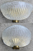 #5090-SUG - Pair of Murano Glass Sconces